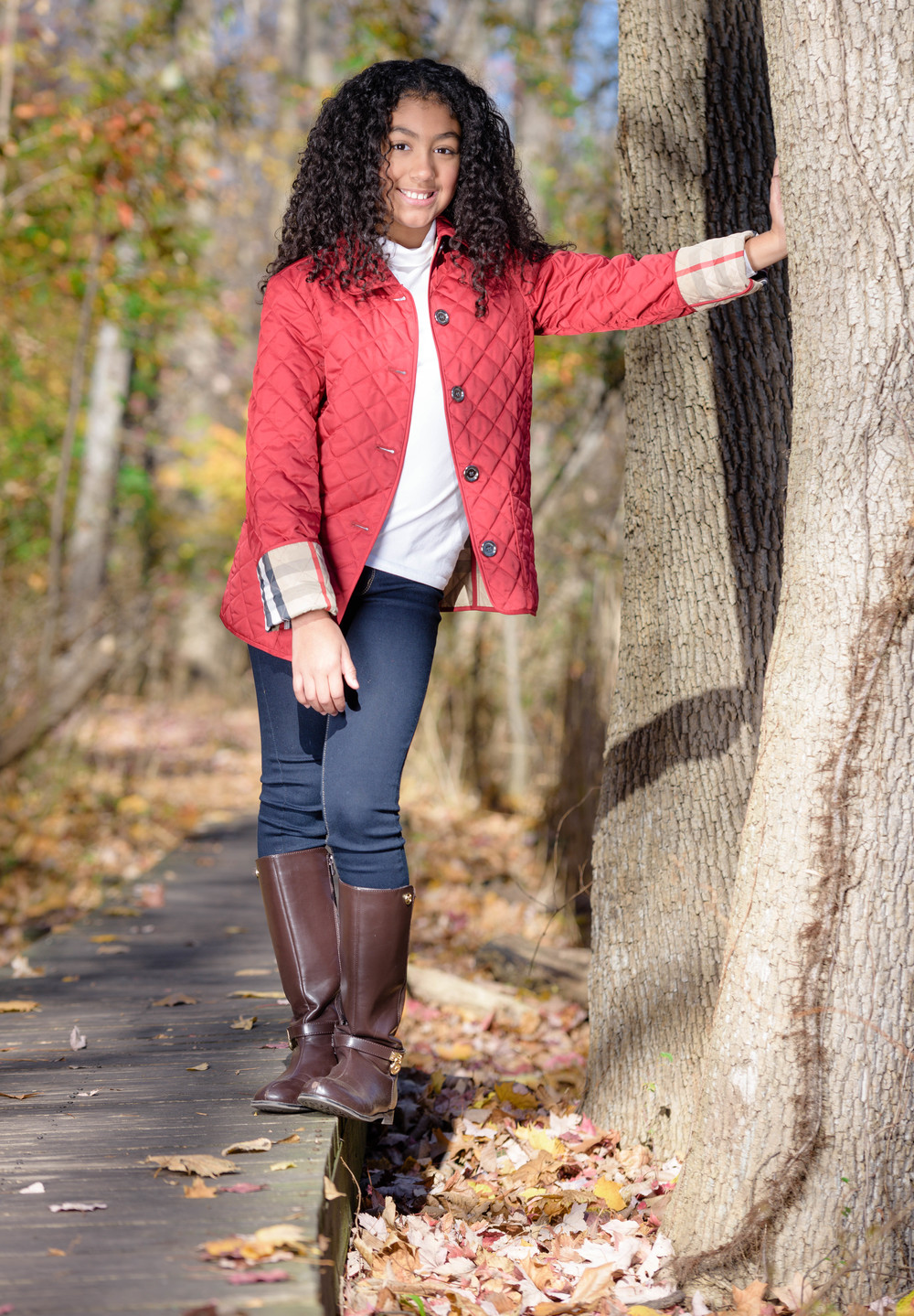 Fall session childrens portrait photography delensmode allendale nj
