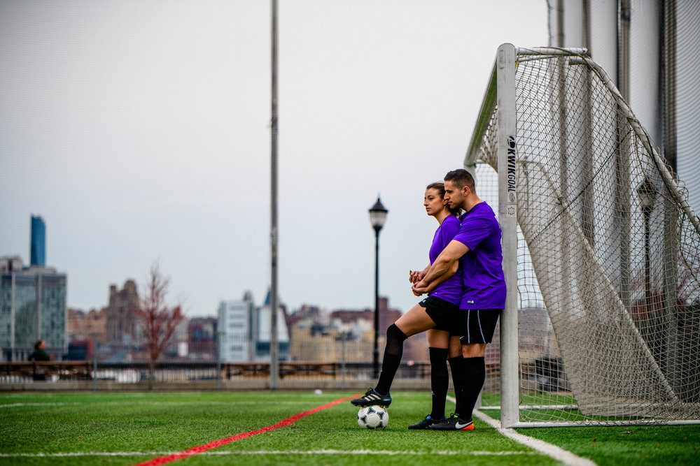 hoboken nj new jersey engagement session soccer