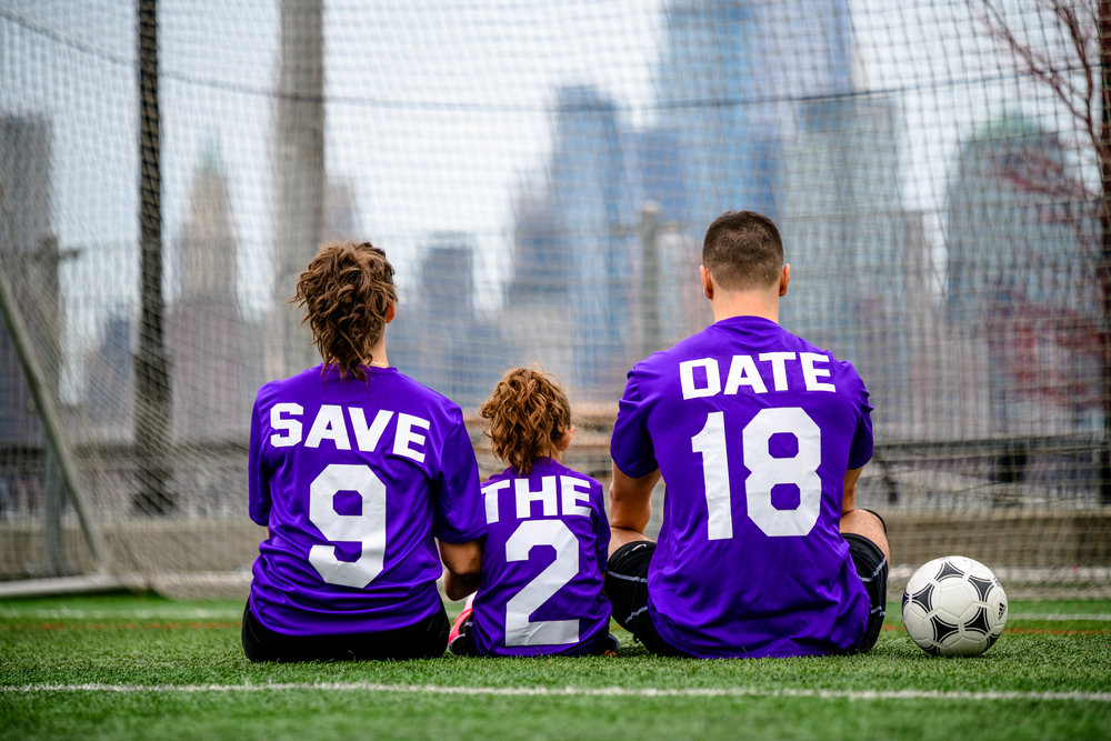save the date photographer engagement hoboken new jersey