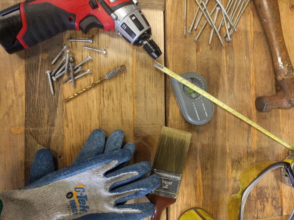 Tool, gloves, nail, tape measure image.jpg
