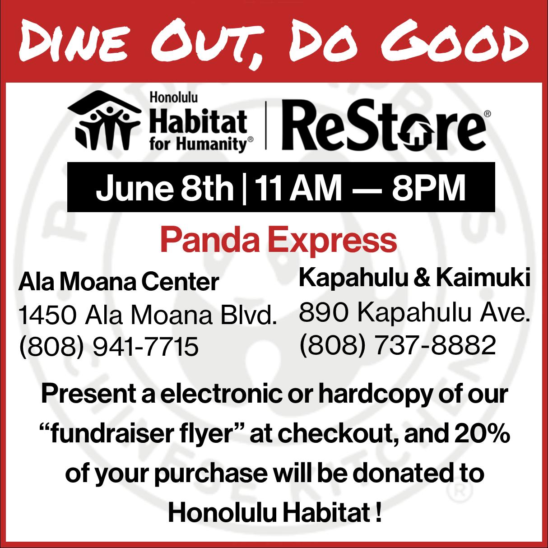 Panda Express Dining Fundraiser — Honolulu Habitat for Humanity