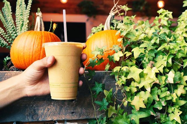 Did you hear?!? Our Pumpkin Patch is back and is as naturally sweet, delicious, and healthy as you remember it!!!' 🧡  With our house made organic pumpkin purée and pumpkin spice blend, your insides will leaf you so happy that fall is here 🎃🍂🍁