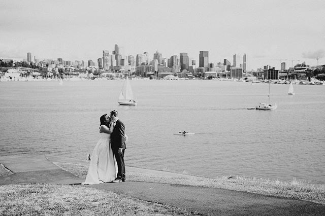 Oh Seattle how you've changed. I still love you anyway. Even though I feel a rapidly growing urge to escape you, you always provide a world class backdrop. #seattleweddingphotographer #gasworkspark. Always great to work along side this wild woman. @jennreppphoto