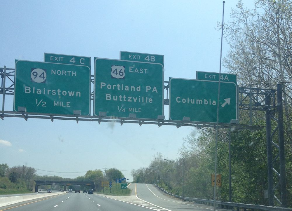 Buttzville, New Jersey. I pass this exit every time I drive between school and home. No, it doesn't get old.