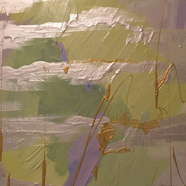 "Two 24 x 36"" canvases #detailshot #studioweek"