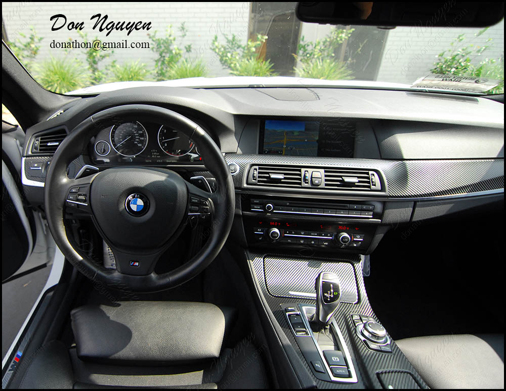 bmw f10 535i gloss carbon fiber interior vinyl wrap wannaberacer wraps. Black Bedroom Furniture Sets. Home Design Ideas
