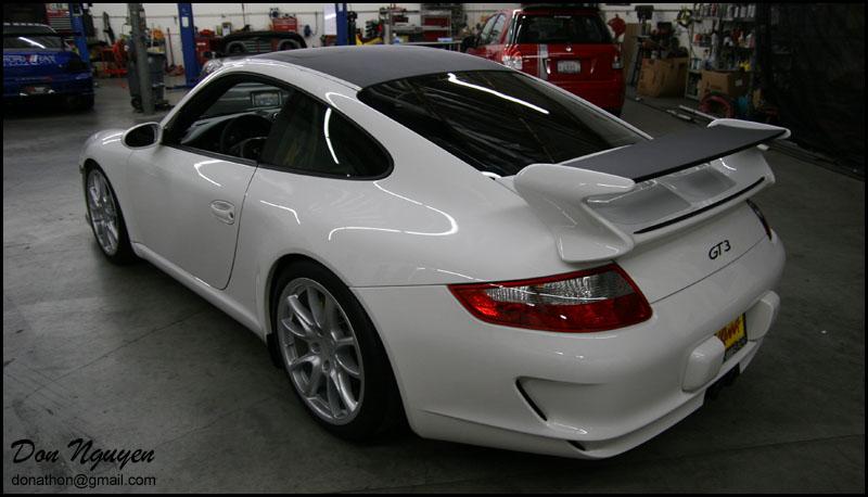 Porsche 997 Gt3 Matte Carbon Fiber Vinyl Roof And