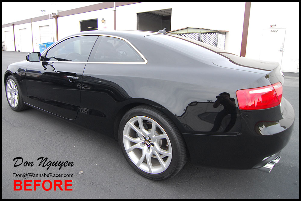 Audi S5 Coupe Gloss Black Window Trim Vinyl Car Wrap