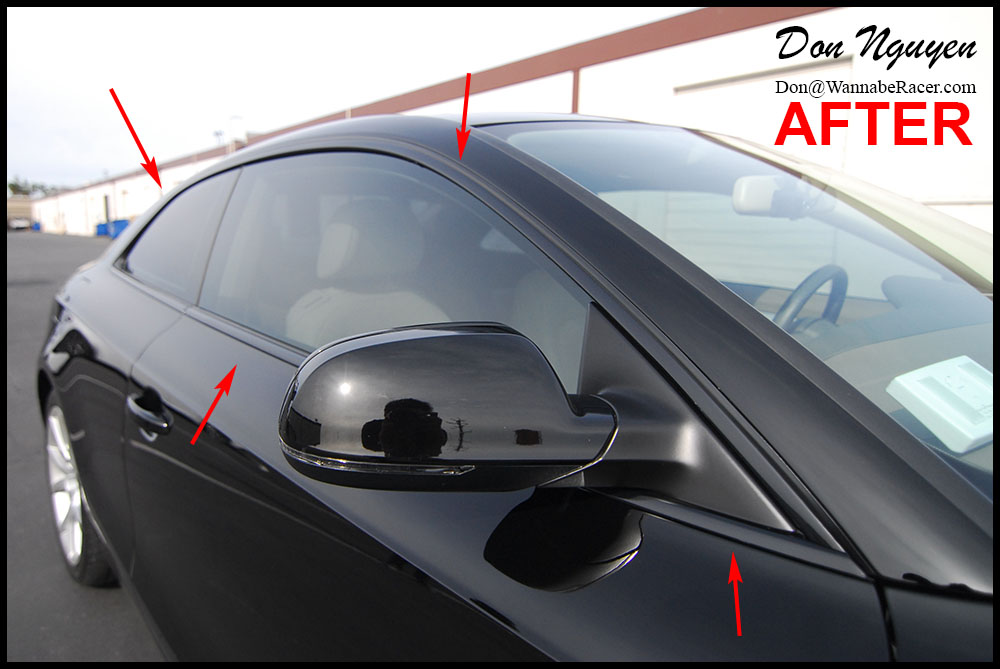 Audi S5 Coupe - Gloss Black Window Trim Vinyl Car Wrap — WANNABERACER WRAPS