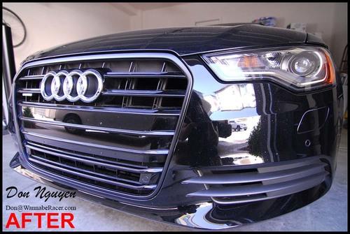 Audi A6 Sedan Gloss Black Grill And Door Handles Vinyl Car Wrap