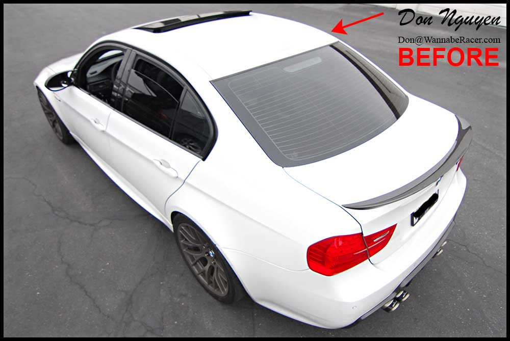 Bmw E90 M3 Sedan Gloss Black Vinyl Roof Car Wrap Wannaberacer Wraps