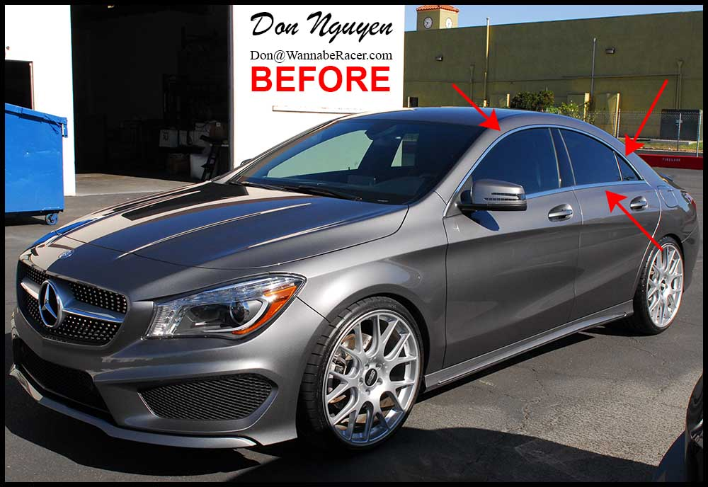 Jaguar Anaheim Hills >> Mercedes Benz CLA250 - Gloss Black Window Trim Vinyl Car Wrap — WANNABERACER WRAPS