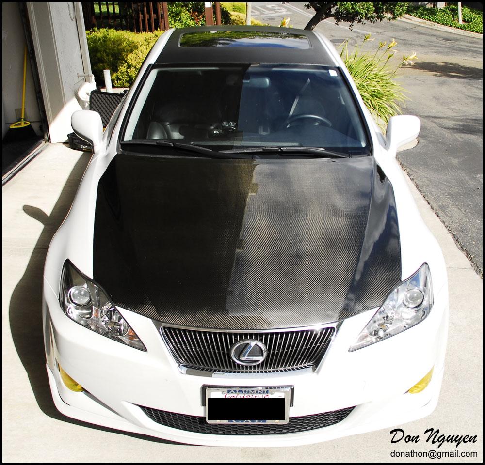 Lexus IS250 Sedan   Gloss Carbon Fiber Roof Car Wrap
