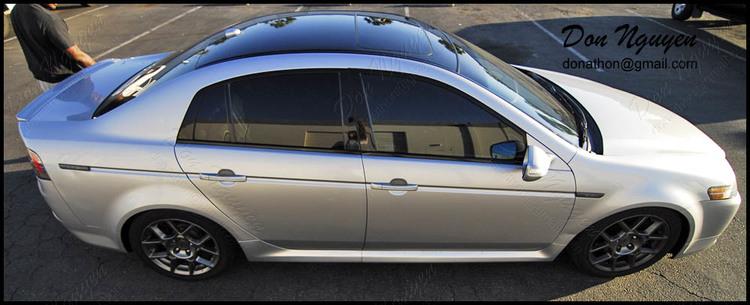 Acura TL S Gloss Black Roof Vinyl Car Wrap WANNABERACER WRAPS - Acura tl black roof