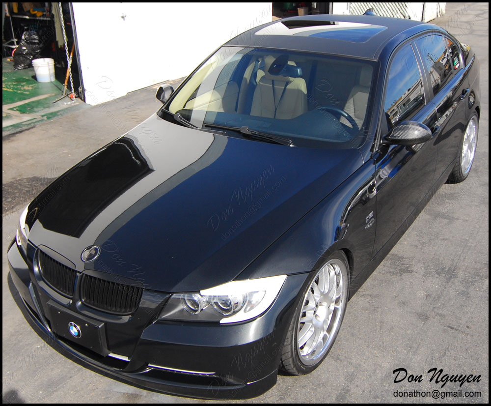 Bmw 335i E90 Sedan Matte Carbon Fiber Roof Vinyl Car