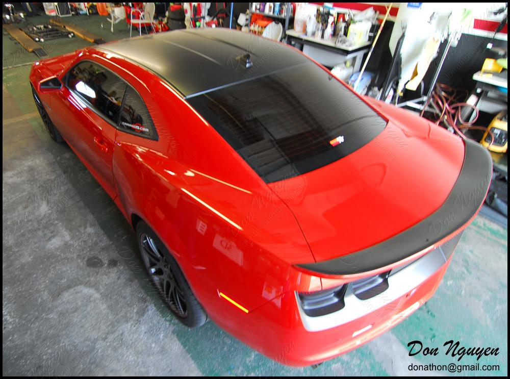 chevrolet camaro black and red. vinylroofwrap1597jpg chevrolet camaro black and red