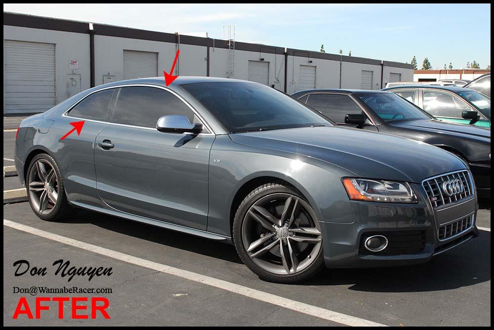 Audi S5 Coupe Gloss Black Window Trim Vinyl Car Wrap Wannaberacer Wraps