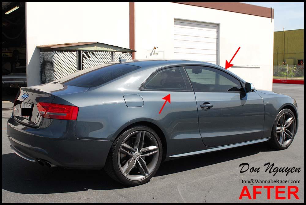 Audi S5 Coupe Gloss Black Window Trim Vinyl Car Wrap