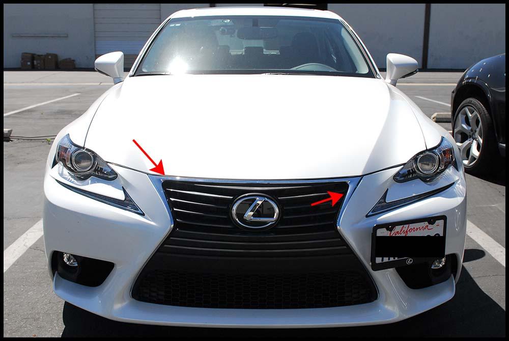 Lexus Is250 Sedan Gloss Black Window Trim And Grill Vinyl Car Wrap Wannabe Racer Car Wraps