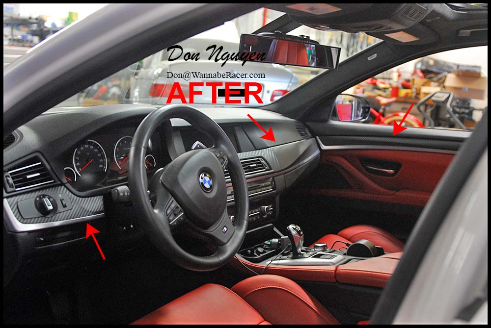 bmw bmw m5 f10 sedan matte carbon fiber interior car vinyl wrap wannaberacer wraps. Black Bedroom Furniture Sets. Home Design Ideas
