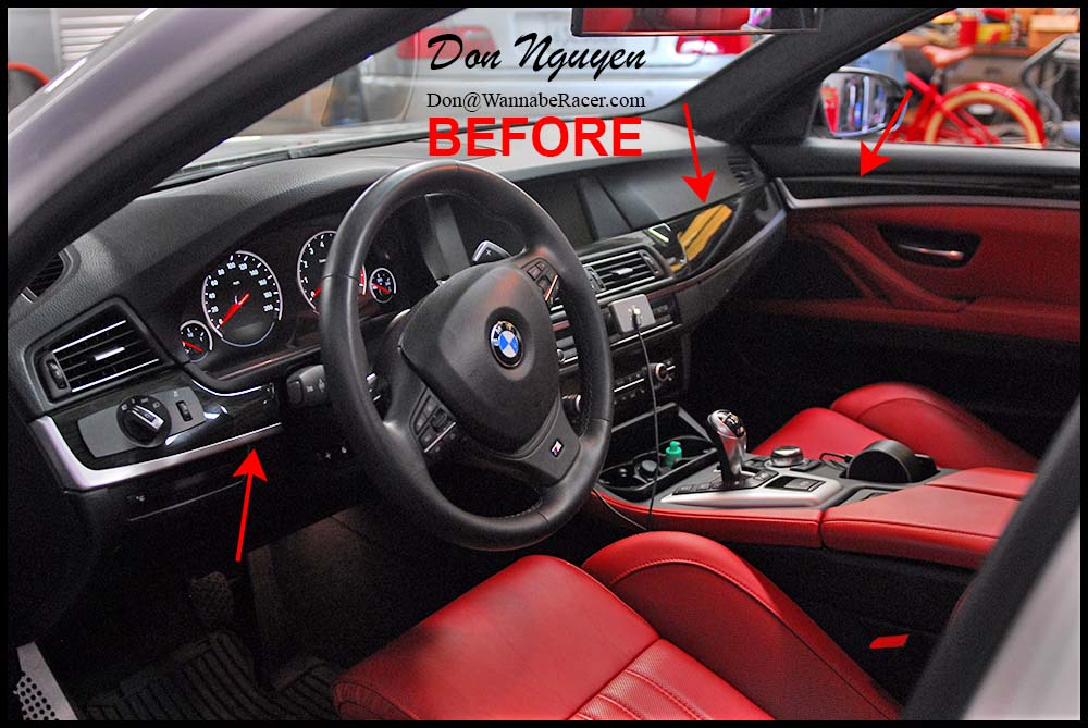 Bmw Bmw M5 F10 Sedan Matte Carbon Fiber Interior Car Vinyl Wrap Wannaberacer Wraps