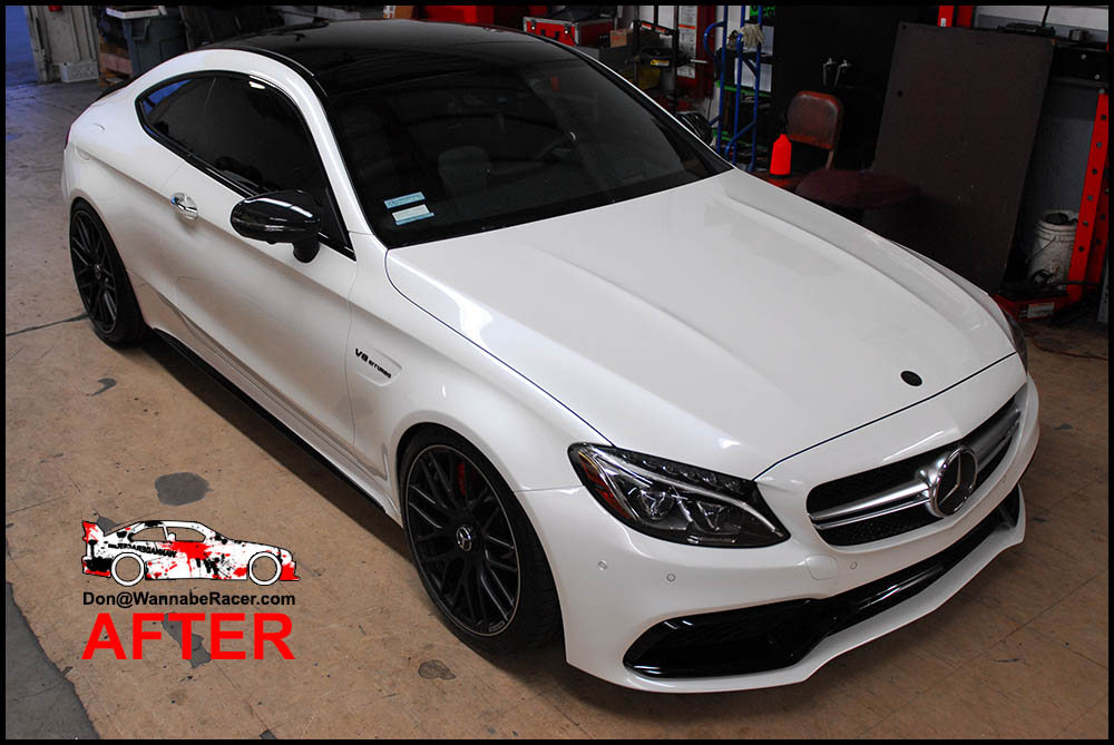 Mercedes Benz C63 Amg Coupe Gloss Black Roof Vinyl Car