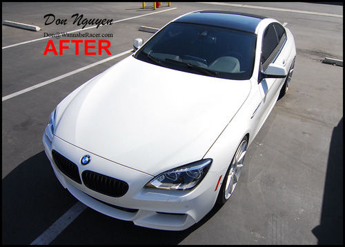 BMW F12 650I Coupe - Gloss Black Vinyl Roof Car Wrap