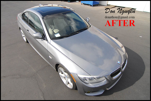 BMW E92 335i Coupe - Gloss Black Vinyl Roof Car Wrap