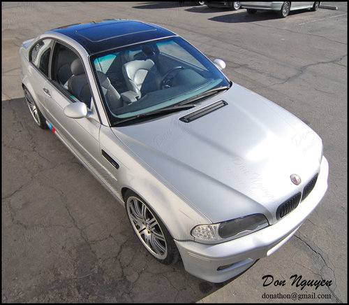 BMW E46 M3 Coupe - Gloss Black Roof Vinyl Car Wrap