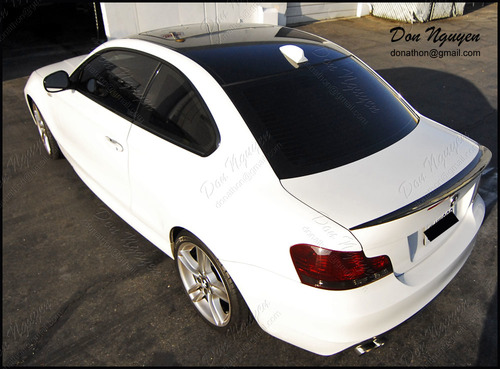 BMW 135i E82 Coupe - Gloss Black Roof Vinyl Car Wrap