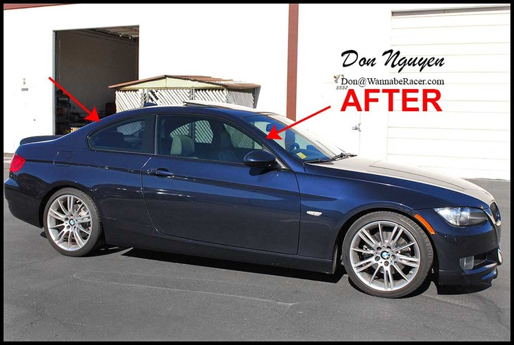 BMW 328i E92 Coupe - Gloss Black Window Trim Vinyl Car Wrap
