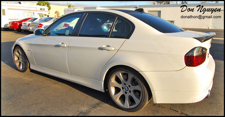 BMW 335i E90 Sedan - Matte Black Window Trim Vinyl Car Wrap