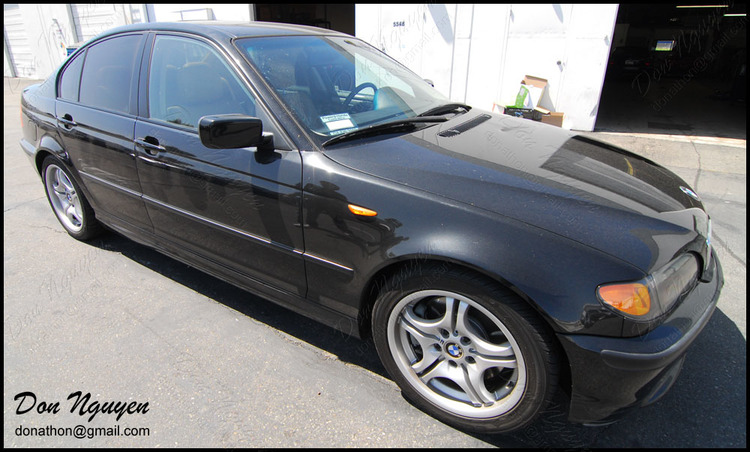 BMW 325i E46 Sedan - Matte Black Window Trim Vinyl Car Wrap