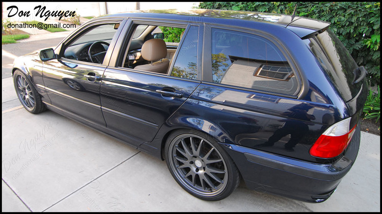 BMW 325i E46 Touring Wagon - Matte Black Window Trim Vinyl Car Wrap