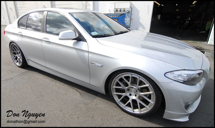 BMW 528i F10 Sedan - Gloss Black Window Trim Vinyl Car Wrap