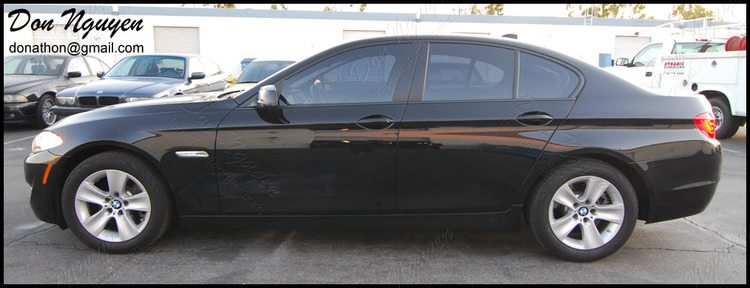 BMW F10 528i Sedan - Matte Black Window Trim Vinyl Car Wrap