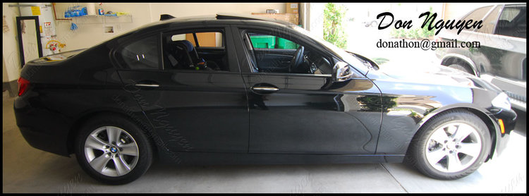 BMW F10 535i Sedan - Matte Black Window Trim Vinyl Car Wrap