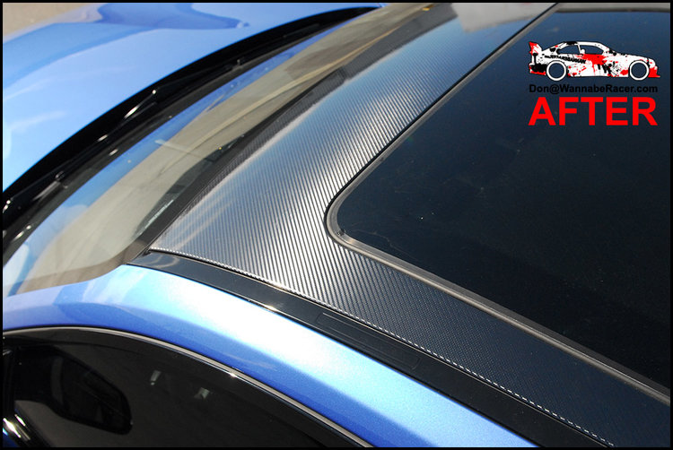BMW F22 M235i Coupe - 5D High Gloss Carbon Fiber Roof Vinyl wrap