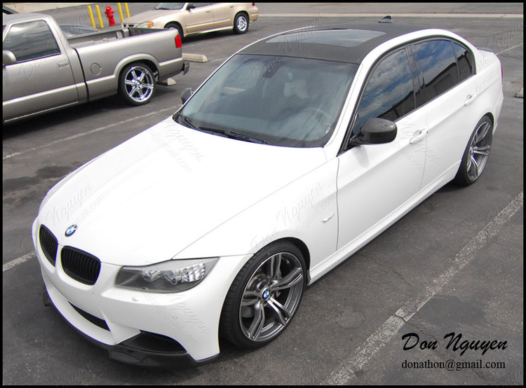 BMW E90 335i Sedan - 3M Gloss Carbon Fiber Roof Vinyl Car Wrap