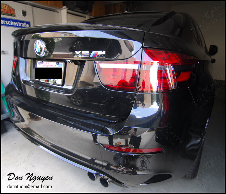 BMW X6M SUV - Tinted / Smoked Rear Tail Lights vinyl Car Wrap