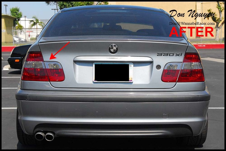 BMW E46 330i ZHP Sedan - Tinted / Smoked Tail Lights Vinyl Car Wrap