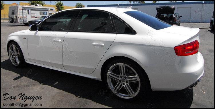 Audi B8 A4 Sedan - Matte Black Window Trim Vinyl Car Wrap