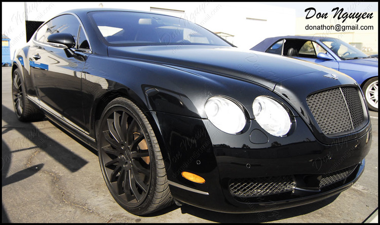 Bentley GT Continental - Matte Black Window Trim Vinyl Car Wrap
