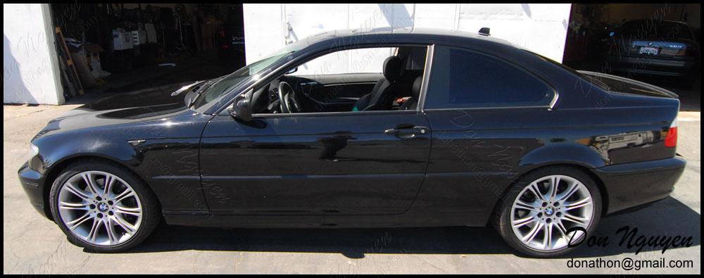 BMW 330i E46 Sedan - Matte Black Window Trim Vinyl Car Wrap