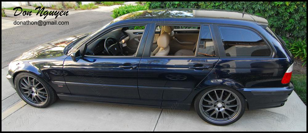 BMW 325i E46 Touring Wagon - Matte Black Window Trim Vinyl Car Wrap