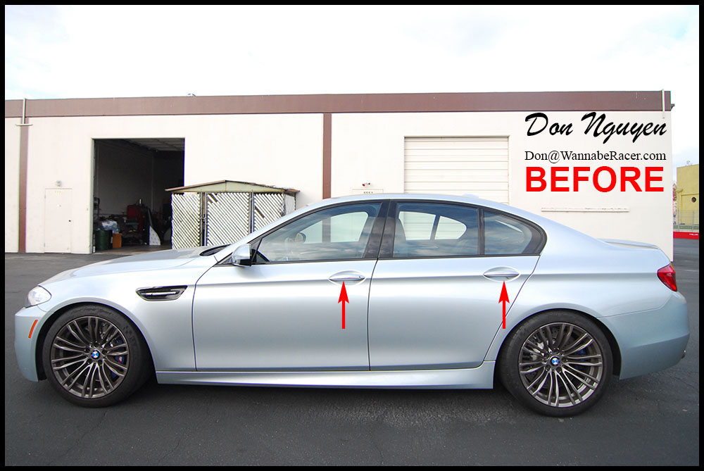 BMW M5 Sedan F10 - Gloss Black Door Handle Trim Vinyl Car Wrap