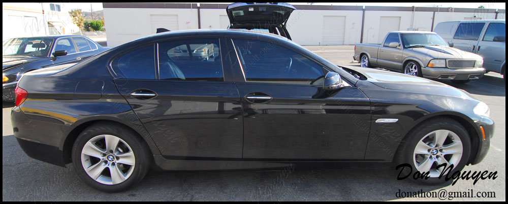 BMW F10 528i Sedan - Matte Black Window Trim Vinyl Car Wrap