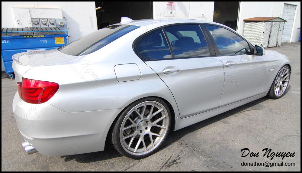 BMW 528i F10 Sedan - Gloss Black Window Trim Vinyl Car Wrap