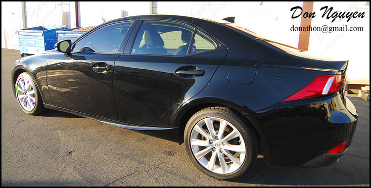 Lexus IS250 Sedan - Gloss Black Window Trim Vinyl Wrap