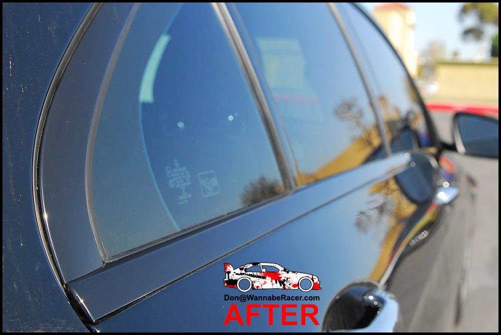 Mercedes Benz C300 Sedan - Gloss Black Window Trim Vinyl Car Wrap